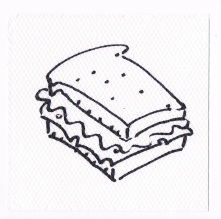 Napkin artist sandwich with multigrain bread no pickle