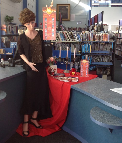 LoveMatch display at Wairoa Public Library.